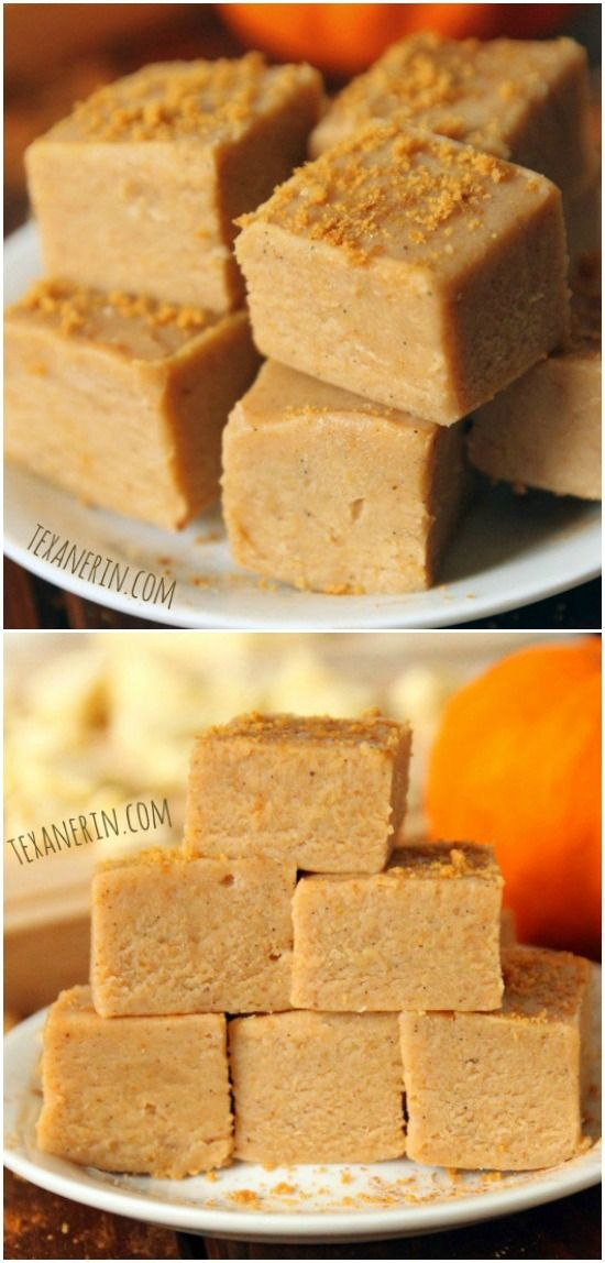 This white chocolate pumpkin fudge only takes a few minutes to make and is made in the microwave. The best and easiest pumpkin fudge ever!
