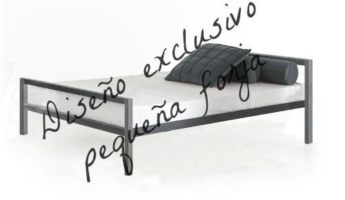 cama de hierro p/colchon o somier de 1.40m