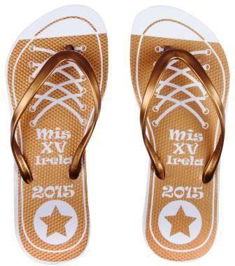 Sandalias para XV años, Chanclas para XV años, Sandalias para Fiesta, Chanclas para Fiesta, Sandalias personalizadas