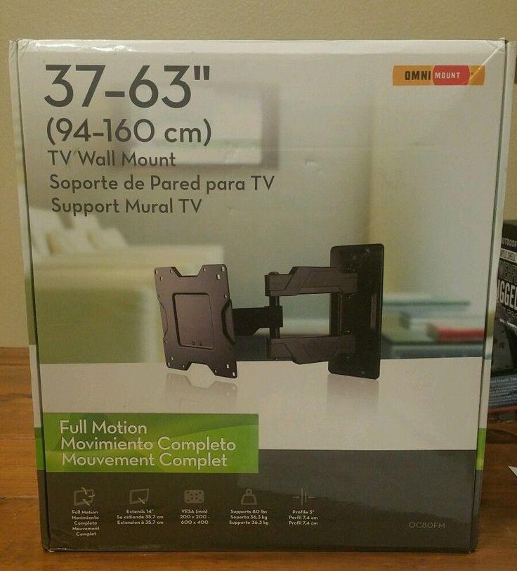 Omnimount full motion tv mount for 37 inch to 63 inch tvs  | eBay