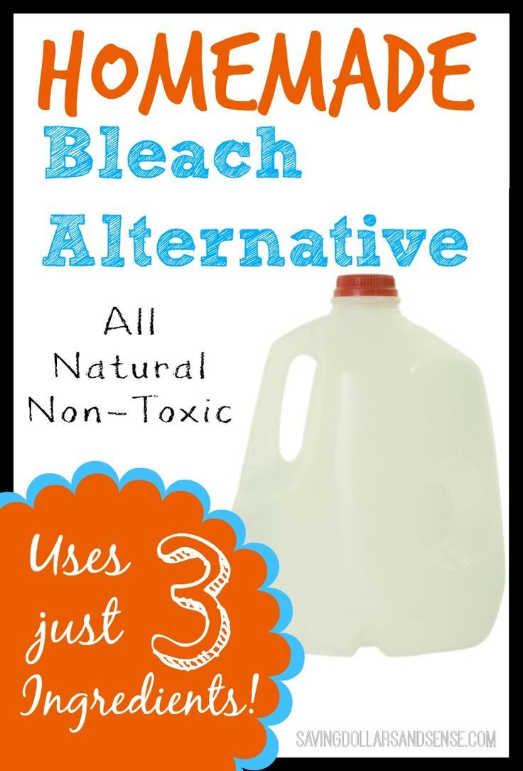 Simple All Natural Non-Toxic Bleach Alternative uses ONLY THREE Ingredients!!! Natural Living Tips , DIY projects , #DIY