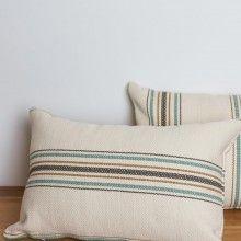 Striped-cotton-pillow