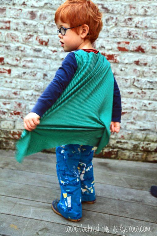 upcycled t-shirt into cape.  www.behind-the-hedgerow.com