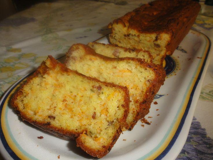 Plumcake salato al rosmarino con zucca e salsiccia