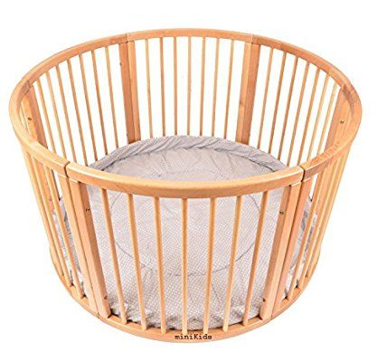 Solid Wood Round Playpen with Soft Layer Diameter 120 cm: Amazon.co.uk: Baby