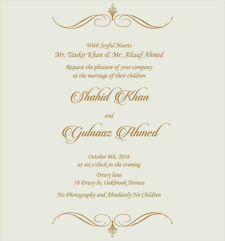 The 25 best indian wedding invitation wording ideas on pinterest wedding invitation wording for muslim wedding ceremony stopboris Image collections