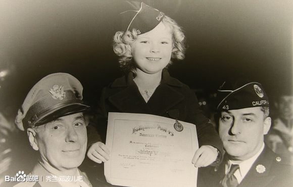 "Hollywood, American veterans association awarded Shirley temple colonel ""honor"""