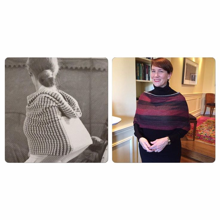 Knit wrap based on a 1947 Claire McCardell design - #vintagepledge