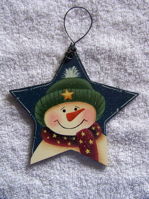 Hand Painted Star of the Show Snowman with от Bronsonscraftsnsuch