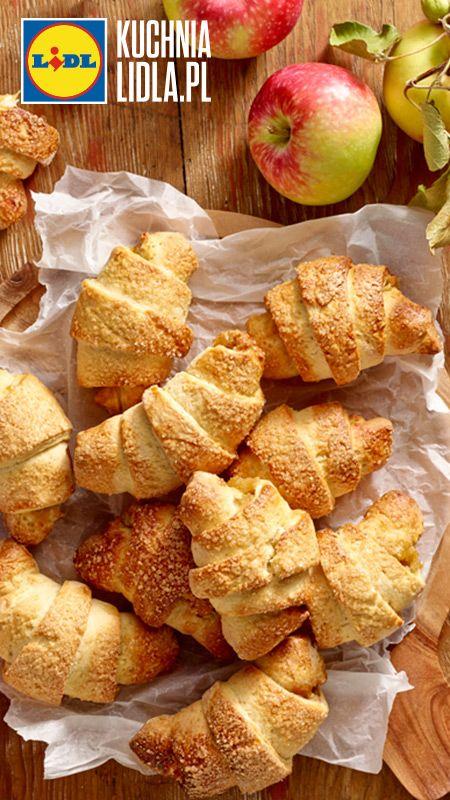 Rogaliki krucho-drożdżowe z jabłkami. Kuchnia Lidla - Lidl Polska. #pawel #rogaliki #jablka