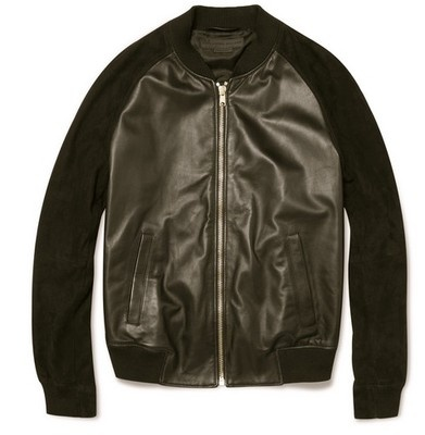 ALEXANDER MCQUEEN Brown Suede Leather Bomber
