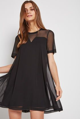 BCBGeneration Mesh Overlay Tent Dress
