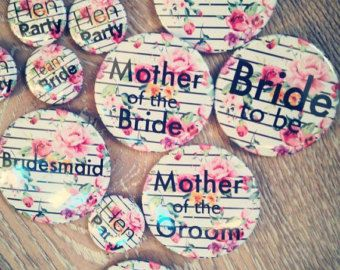 Vintage Hen Party Badges 50mm by TheHenPlanner on Etsy