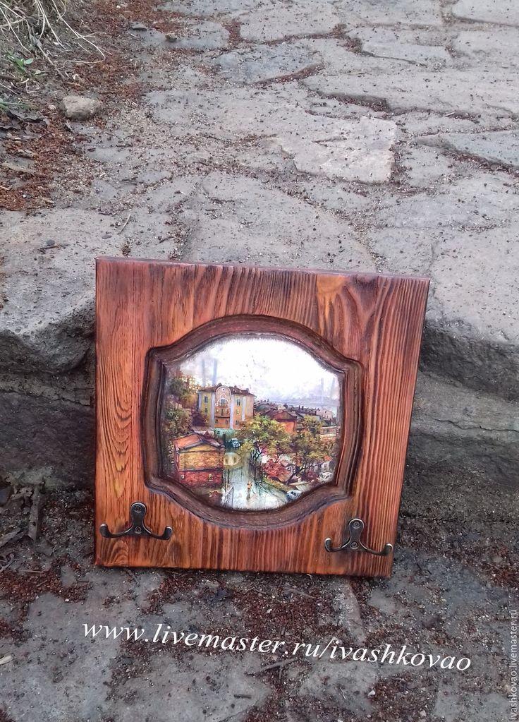 Купить Ключница из серии Мой любимый город - рыжий, ключница ручной работы, Ключница декупаж