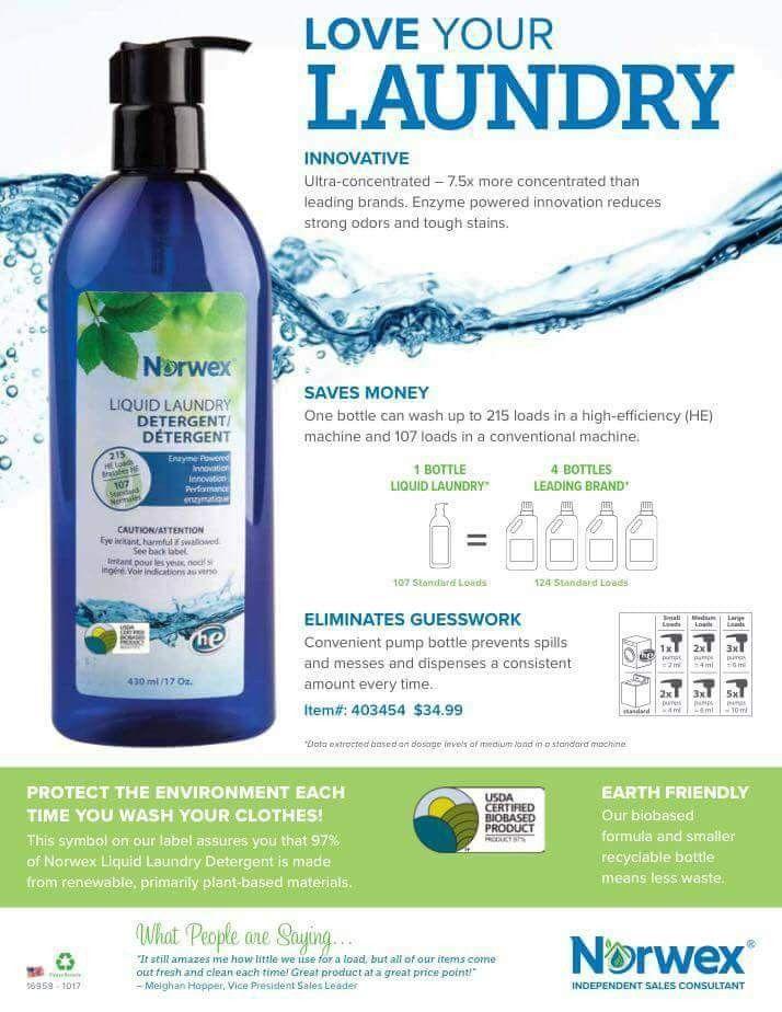 Liquid Detergent Norwex Laundry Detergent Norwex Detergent
