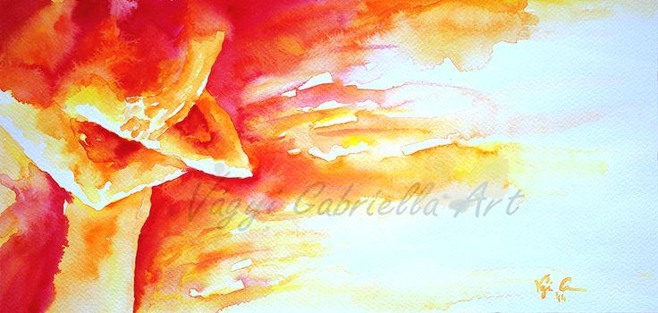Karomban tartalak című akvarell festmény #piros #akvarell #festmény #művészet #szerelem #tűzszín #red #love #couple #art #aquarell #painting