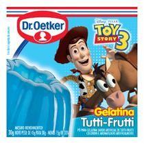 Pó para gelatina DR OETKER tutti frutti caixa 30g