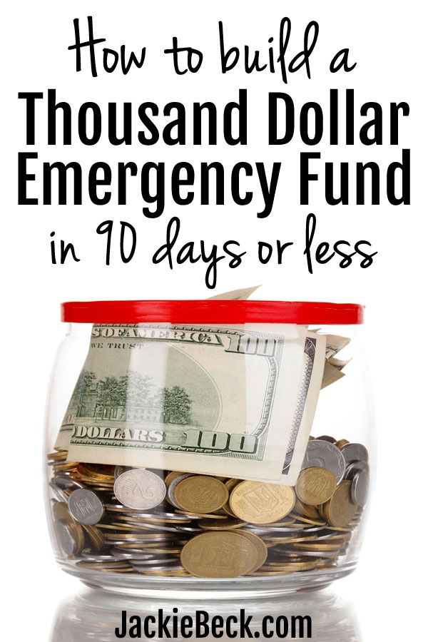 Here's exactly how to build a $1,000 emergency fund fast (in 90 days or less.) | Baby emergency fund savings plan | Personal finance | Saving money | Emergency fund ideas | Jackie Beck | Dave Ramsey