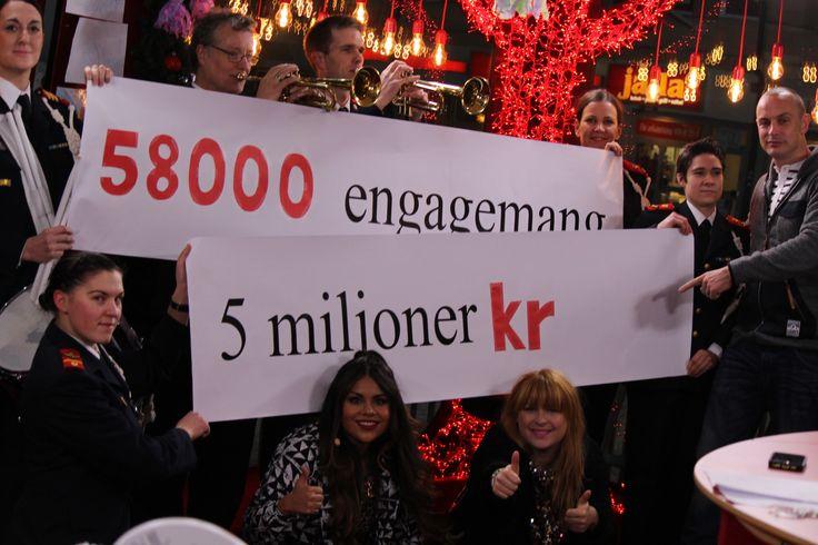 Lägesrapport, torsdag morgon:  5 MILJONER KRONOR INSAMLADE! 58 000 engagemang.  TACK FÖR DET! Keep up the good work! / Nicklas (Foto: Simon Rosenqvist/SR) #mh14 #uppsala