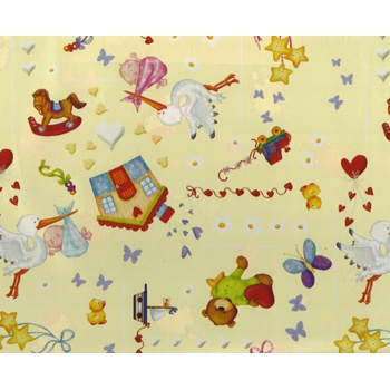 Inspirations Eco Gift Wrap - 24in x 417ft  Baby Stork 100% Recycled material -build your brand while saving the planet!