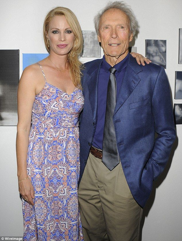 Family man: Clint Eastwood was there to show his support to daughter Alison as she