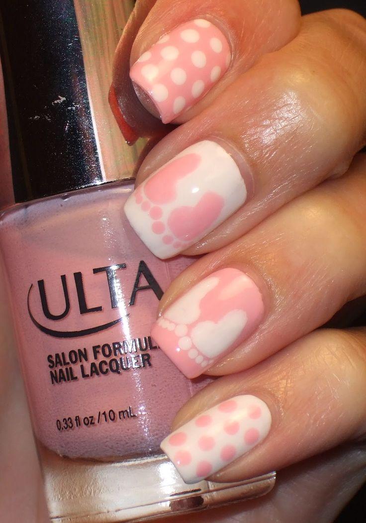 Progress Through Polish: Ashleigh Joy - Newborn nails, Baby shower nails