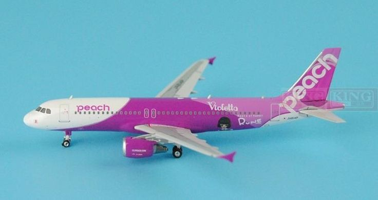 88.38$  Watch now - http://ali38k.worldwells.pw/go.php?t=32596022284 - Phoenix 04077 peach aviation JA814P 1:400 A320 commercial jetliners plane model hobby 88.38$