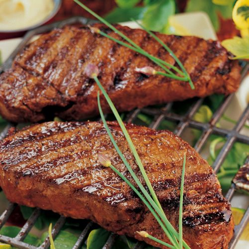Grilled Kobe Striploin Steaks with Aioli #petesfancyfood
