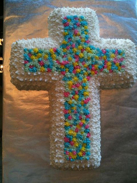 Karli's Easter Cross Cake ....love it ! Making this next year