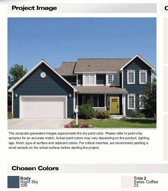 Exterior house color home pinterest exterior house for Miller exterior paint