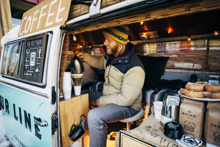 In 115 square feet, Erik wakes up and starts brewing a new roast. He turns  on…