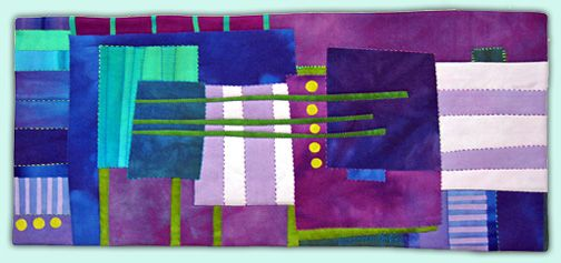 Melody Johnson: Art Quilts - Galleries - Urban Landscapes.  A lot of beautiful art quilts on this site.