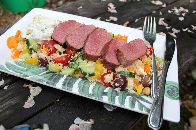 Lamb  Couscous Salad with Tzatziki by Seven Green Apples, via Flickr