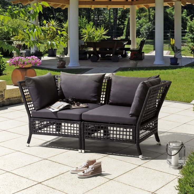 The 25+ Best Ideas About Polyrattan Sofa On Pinterest | Rattan ... Modulares Outdoor Sofa Island