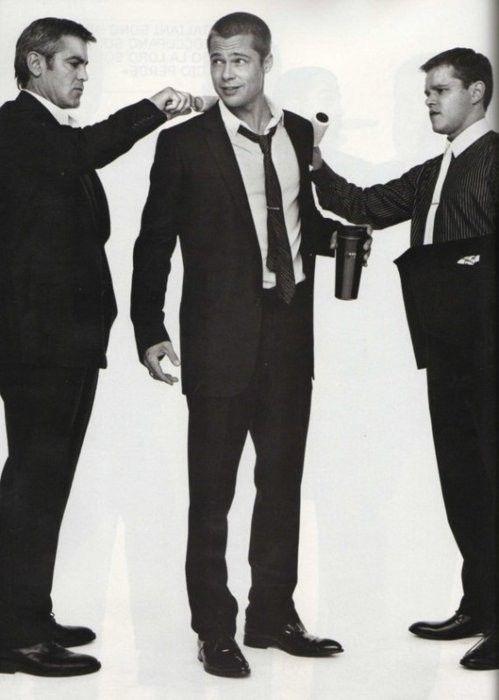 George Clooney, Brad Pitt & Matt Damon
