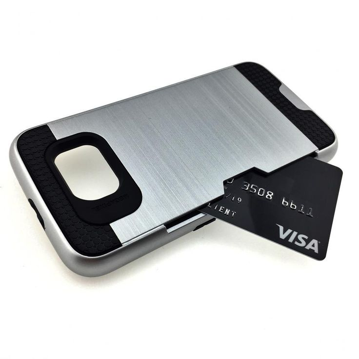 Slim Armor Hybrid Case w/Credit Card Slot - Galaxy S6 Edge