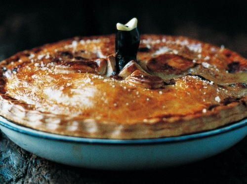 <em>Editor's Note: This Deep-Dish Chicken Pie recipe is very similar to what most Americans know as a chicken pot pie. A savory dish of chicken, vegetables, and gravy surrounded by a crispy crust, this chicken pie recipe is the perfect thing to comfort after a long day. Best of all, it only takes 35 minutes to bake, so once the preparation is finished you don't have to wait long before serving. It's a great chicken recipe to make for dinner during the colder mon...