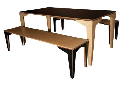 Tim Webber NZ Designer Floating Dining Table And Floating Bench Seats Sp