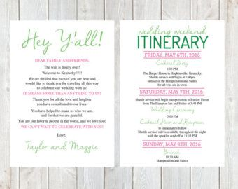 Best 25 wedding welcome letters ideas on pinterest welcome welcome letter wedding itinerary wedding welcome bag hotel pronofoot35fo Gallery