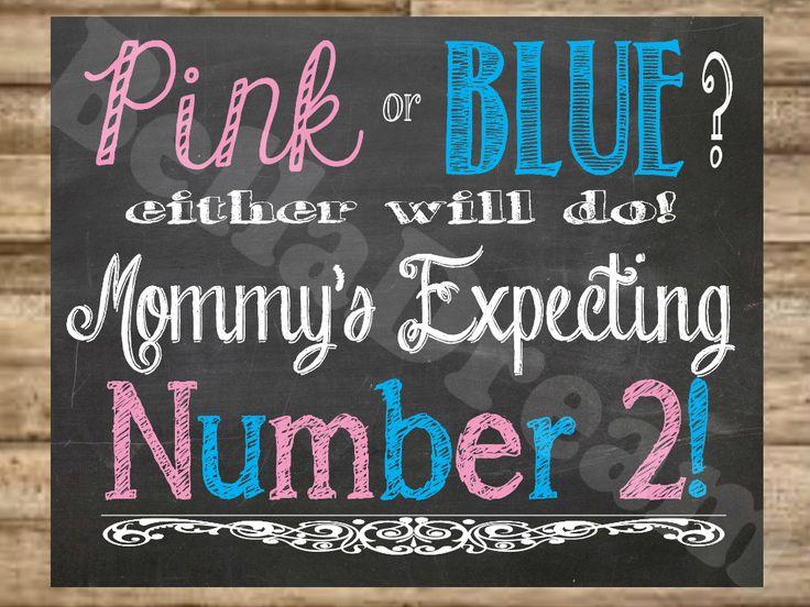 Fun Pregnancy Announcement Chalkboard Poster by BellaDreamDesigns