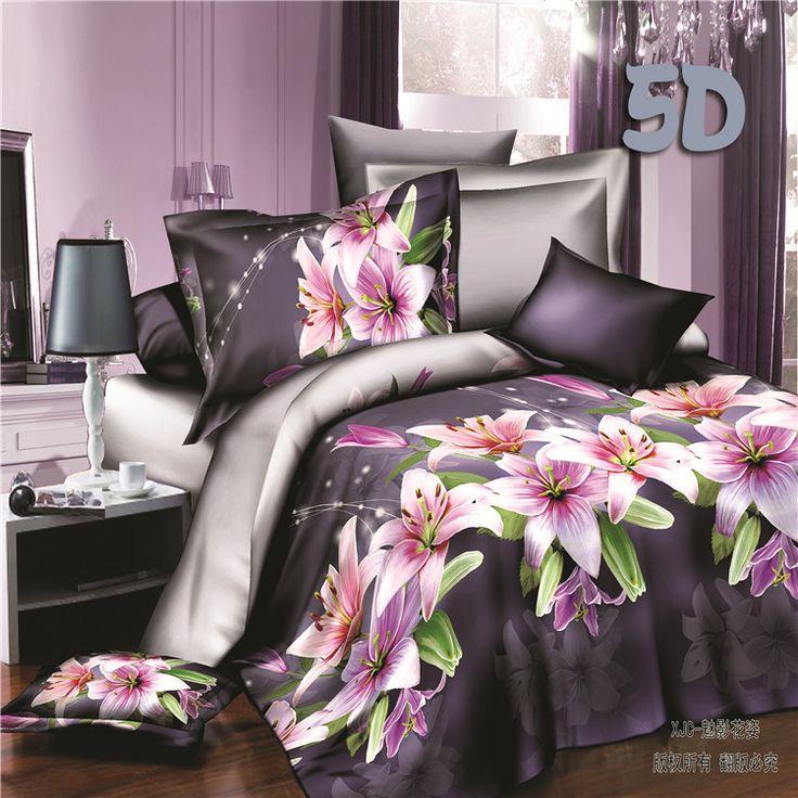 2015 new 4pcs 3d bedding sets king size bedding-set linen set cotton bed sheets no comforter duvet cover set bedclothes 01