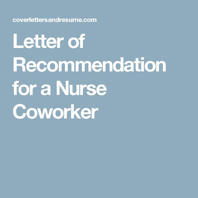 14 Best Reference Letter For Coworker Images On Pinterest