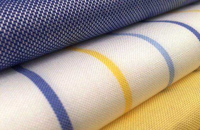 Pinpoint striped and checked shirting fabric