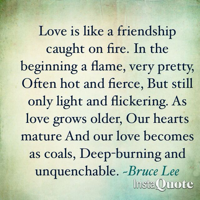 I Love You Quotes: LOVE Is Like A Friendship Set On FIRE.