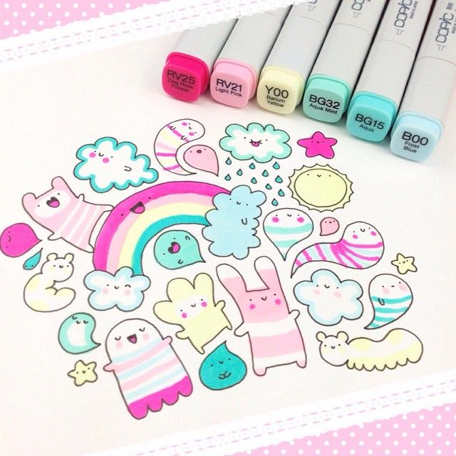 #kawaii #rainbow #doodle  if you like #HowICopic please vote for me on the #HowDoYouCopic contest ✨ https://imaginationinternationalinc.com/contests/how-do-you-copic/#vote_now polls are open till...