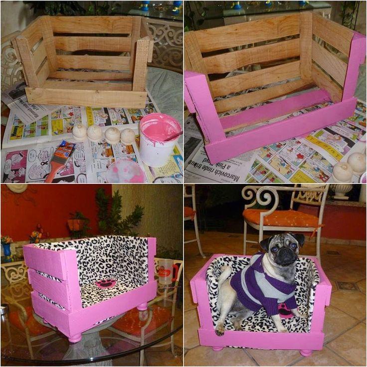 faca você mesmo caixote - Pesquisa  Pet Bed - Padding in Crate