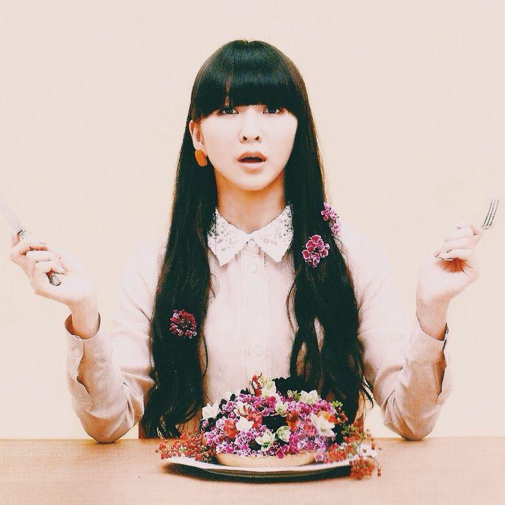 Kashiyuka eating flowers (to remain her cuteness)