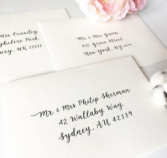 Envelope Addressing Calligraphy Wedding Envelope Etsy In 2020 Wedding Envelope Calligraphy Addressing Wedding Invitations Calligraphy Envelope Addressing