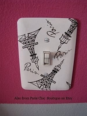 Do a zen-tangle of French and British things on the light switch panel.
