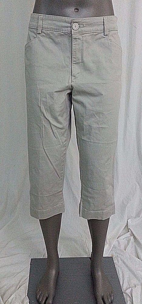 Lee womens capri cropped pants size 10 beige just below the waist #Lee #CasualPants